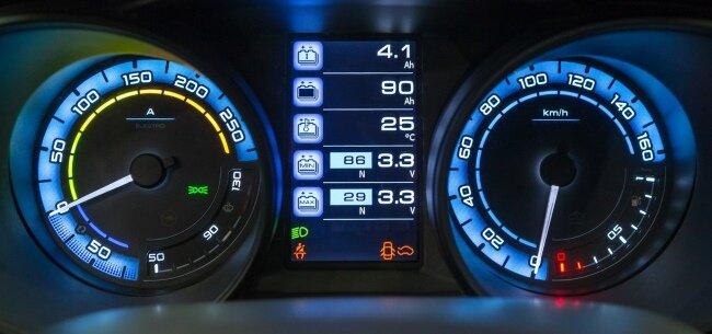 Lada Vesta электромобиль панель